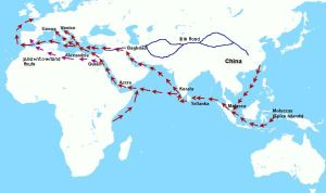 Early Trade Route to the Indies -
